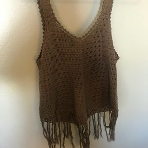 Windsor olive green knitted tank top.